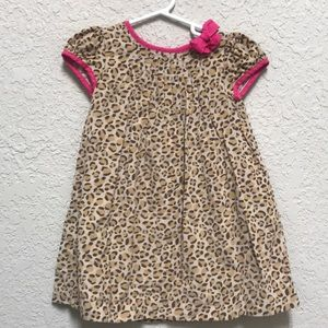 Carters adorable animal print corduroy dress